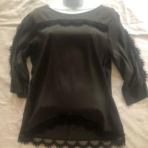 Prairie New York gray with lace trim top